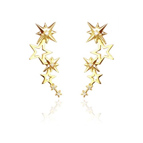 BR2000040---Brinco-Estrelas-com-diamantes-em-Ouro