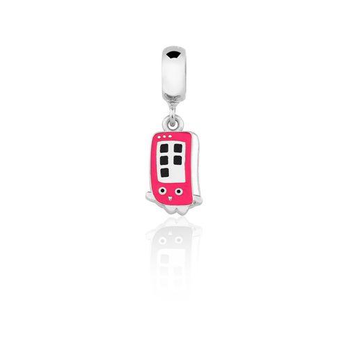 CH1000148---Charm-Celular-Fun-com-esmalte-Pink-em-Prata
