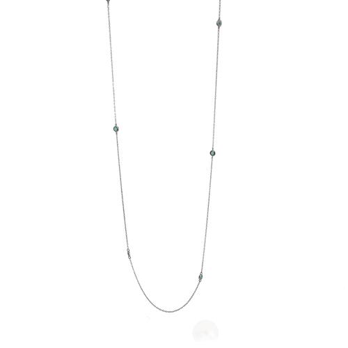 CO1000041---Colar-Longo-com-detalhes-em-Zirconias-Verdes-em-Prata-e-Rodio-Negro