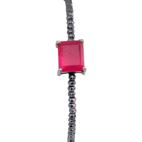 PU1000037_1---Pulseira-com-Pedra-Pink-Fusion-retangular-e-hematitas-em-Prata-e-Rodio-Negro