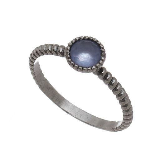Anel-bolinhas-com-Zirconia-Azul-em-Prata-com-Rodio-Negro