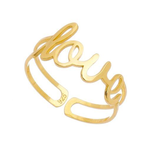 Anel-Love-ajustavel-em-Prata-com-Banho-de-Ouro