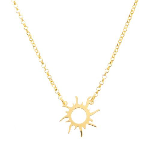 Gargantilha-Sol-corrente-Elos-em-Prata-com-Banho-de-Ouro-ajustavel-ajustavel