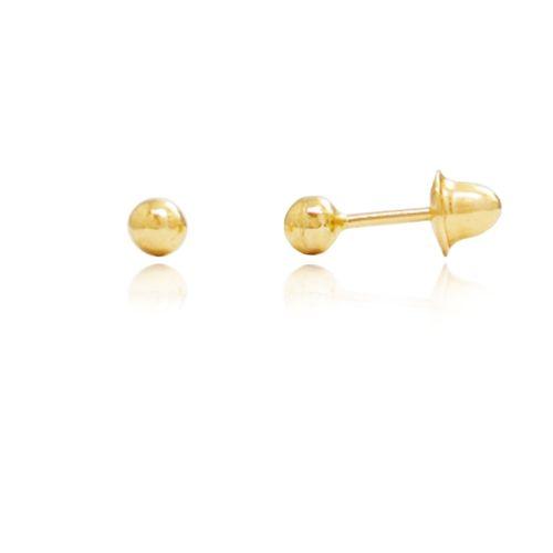 Brinco-Bolinha-3mm-em-Ouro-|-Colecao-Kinder