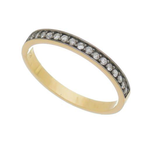 Anel-com-diamante-cravejado-em-Ouro