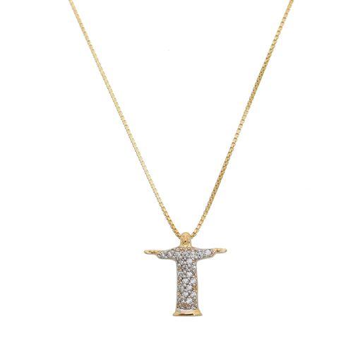 Gargantilha-Cristo-Redentor-com-Zirconias-Brancas-em-Prata-e-Banho-de-Ouro