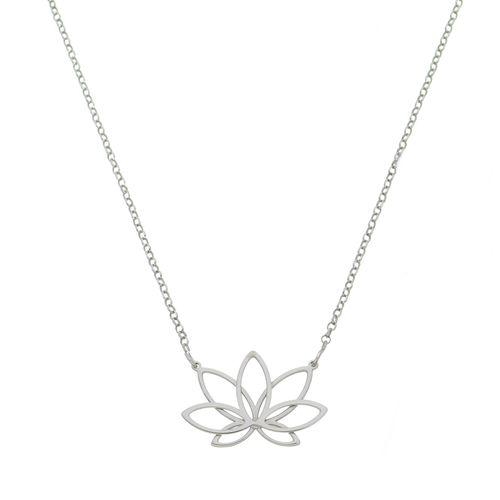 Gargantilha-Flor-de-Lotus-em-Prata-com-Rodio