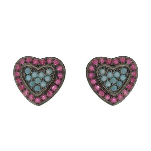 Brinco-Coracao-Pedra-Azul-e-Zirconias-Rosas-em-Prata-com-Banho-de-Rodio-Negro
