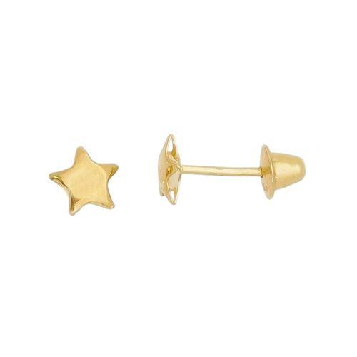 Brinco-Estrela-Mini--em-Ouro-|-Colecao-Kinder