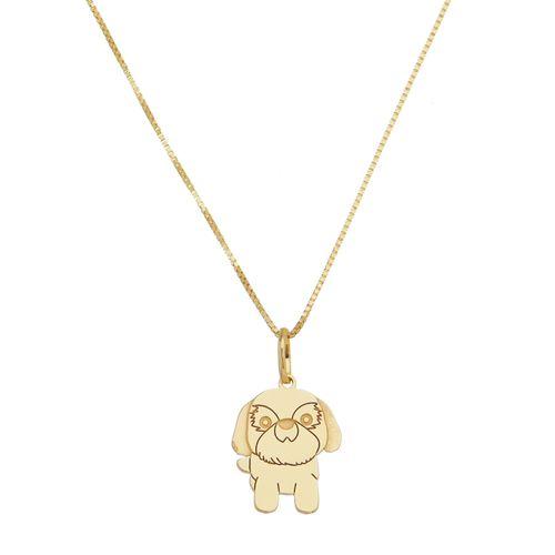 Pingente-Cachorro-em-Prata-com-Banho-de-Ouro