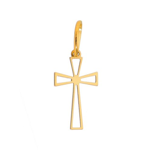 PingenteCruzOuroColecaoFe-Crucifixo