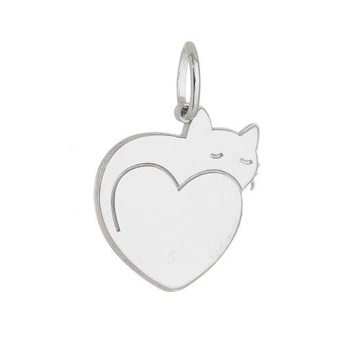 Pingente-Gato-Love-em-Prata-com-Rodio--|-Colecao-Pet-Lovers