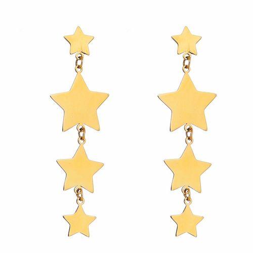 Brinco-Longo-Tres-Estrelas-em-Ouro-18K-|-Colecao-Star