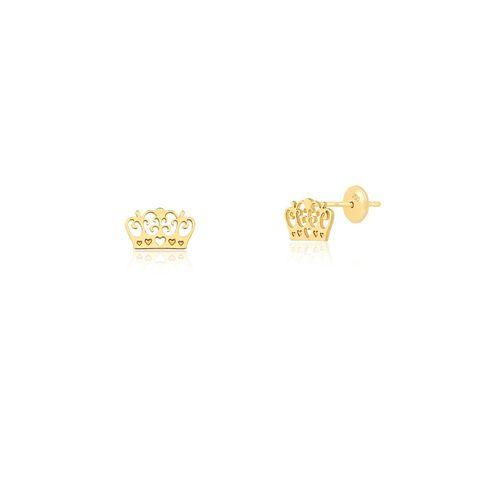 Brinco-Baby-Coroa-Mini-em-Ouro-18K-|-Colecao-Baby