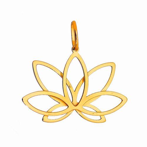 Pingente-Flor-de-Lotus-em-Ouro-18K