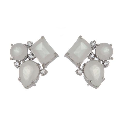 Brinco-com-Tres-Pedras-Brancas-e-Zirconias-Brancas-em-Prata-com-Rodio