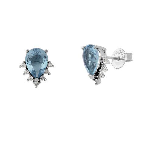 Brinco-Gota-com-Cristal-Azul-Safira-e-Zirconias-Brancas-em-Prata-e-Rodio-|-Colecao-Delicata