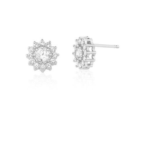 Brinco-Flor-com-Zirconias-Brancas-em-Prata-e-Rodio-|-Colecao-Classic