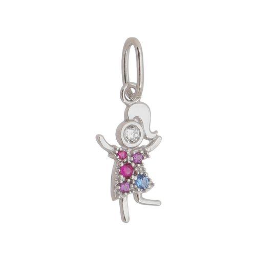Pingente-Menina-com-Zirconias-Pink--Azul-e-Roxa-em-Prata-e-Rodio