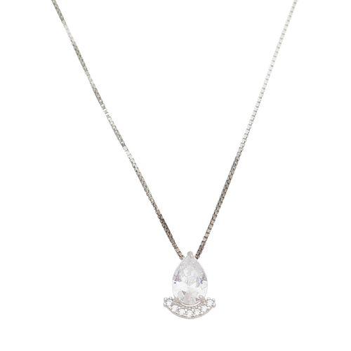 Gargantilha-Gota-com-Cristal-Zirconias-Brancas-em-Prata-e-Rodio