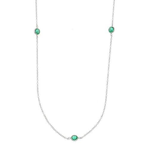 Colar-Tiffany-com-Zirconias-Esmeralda-em-Prata-com-Rodio