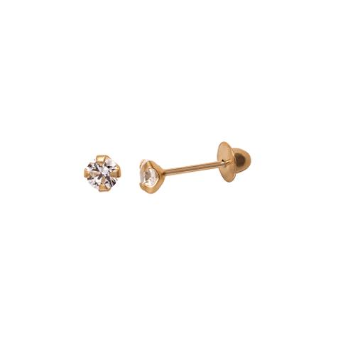 Brinco-em-topazio-branco-3mm-em-Ouro-|-Colecao-Luz