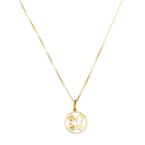 Pingente-Amuletos-da-Sorte--Trevo-Estrela-Hamsa-Ferradura-em-Ouro-18K