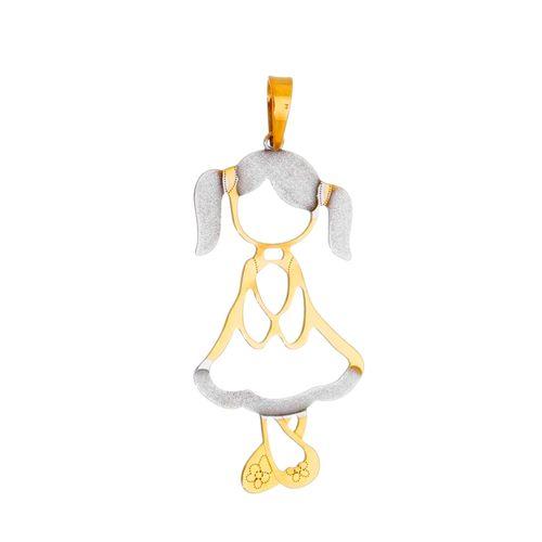 Pingente-Menina-em-Ouro-18k
