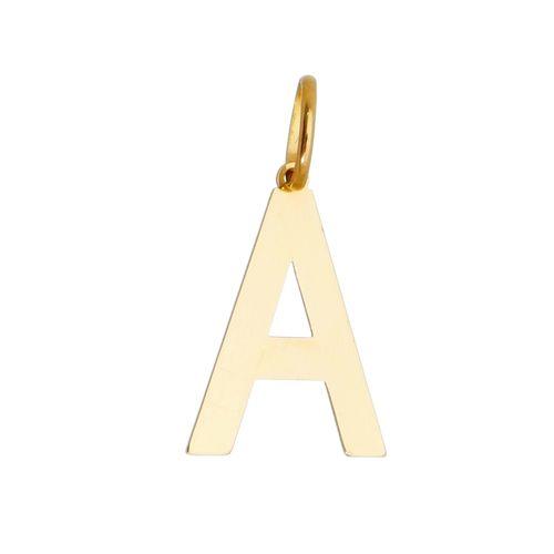 Pingente-Letra-A-em-Ouro18k