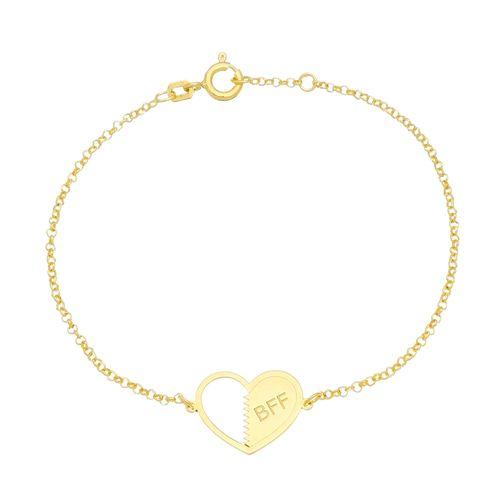 Pulseira-Best-Friend-Forever-Prata-com-Banho-de-Ouro-