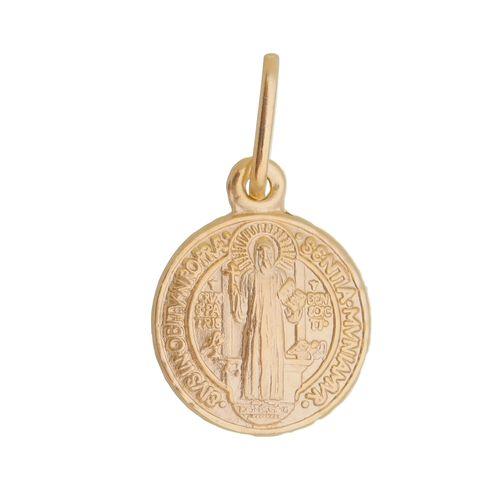 Pingente-Medalha-de-Sao-Bento-em-Prata-com-Banho-de-Ouro