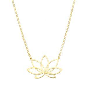 Gargantilha-Flor-de-Lotus-em-prata-com-banho-de-ouro