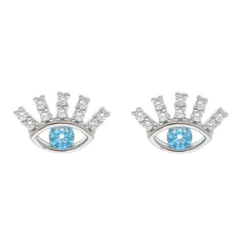 Brinco-Olho-Grego-com-Zirconia-Azul-e-Branca-em-Prata