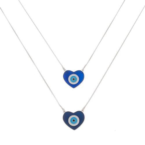 Escapulario-Olho-Grego-Coracao-Esmalte-Azul-em-Prata-e-Rodio