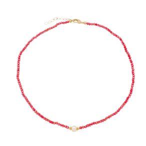 Gargantilha-Colors-Rubi-com-Perola-e-Detalhes-em-Banho-de-Ouro