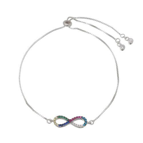 Pulseira-Infinito-Colors-com-Zirconias-Coloridas-em-Prata-e-Rodio