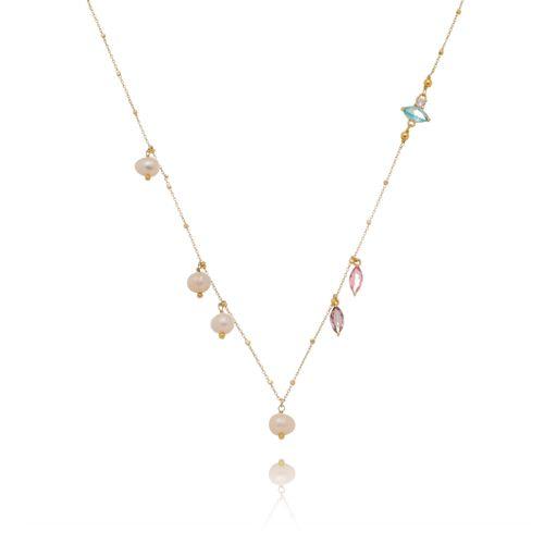 Gargantilha-Colors-com-Navetes-Pedras-Azuis-Pink-Rocha-e-Perola-Barroca-em-Banho-de-Ouro