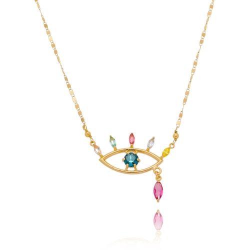 Colar-Olho-Grego-com-Navetes-Coloridas-Azul-Verde-Pink-Lilas-Rose-e-Amarela-em-Banho-de-Ouro