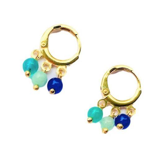 Brinco-Argola-Pequena-Colors-Azul-Verde-e-Azul-Claro-e-Banho-de-Ouro