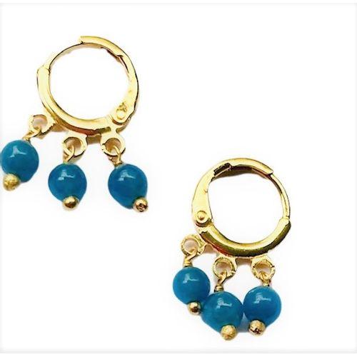 Brinco-Argola-Pequena-Colors-Azul-Jeans-e-Banho-de-Ouro