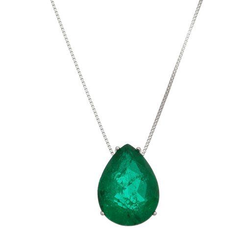 Gargantilha-Gota-com-Pedra-Verde-em-Prata-e-Rodio
