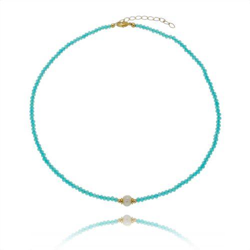 Gargantilha-Colors-Azul-Claro-com-Perola-e-Detalhes-em-Banho-de-Ouro