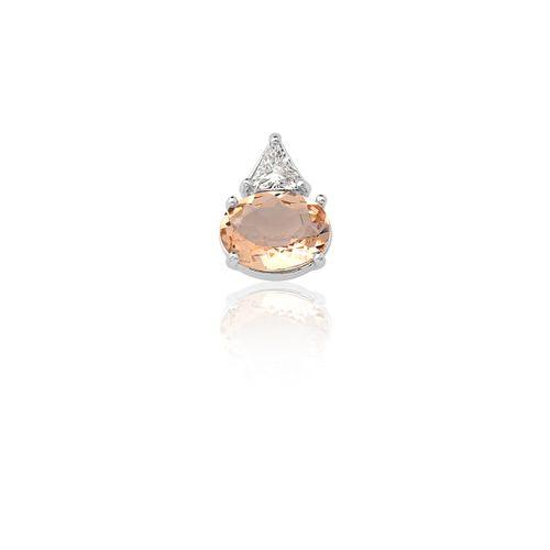 Pingente-Oval-Triangular-em-Prata-com-Zirconia-Branca-e-Champanhe